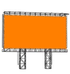 Silhouette of Steel structure billboard vector