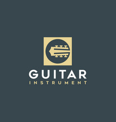 simple guitar icons logo vector image