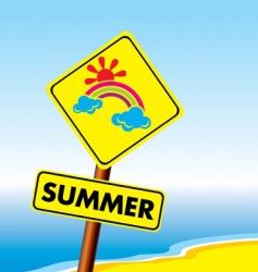 summer symbol vector image