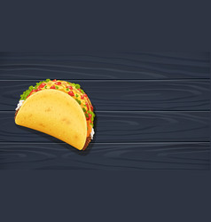 Tacos with meat and vegetable vector