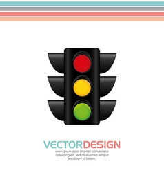 Traffic signal design vector