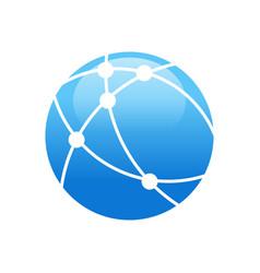 Worldwide broadband technology circular symbol vector