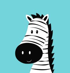 zebra head card vector image