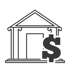 bank building with finance icon vector image