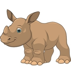 Cute little rhino vector image vector image