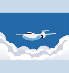 image with plane vector image