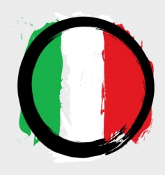 Italian circle flag vector image