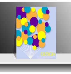 Magazine Cover with pieces of colored Paper For vector image vector image