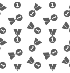 Simple icon medals seamless pattern on white vector image vector image
