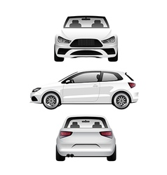White Sports Hatchback vector image