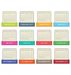 calender for 2011 vector image