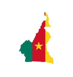 cameroon map and flag vector image