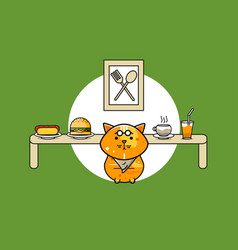 cute foody cat vector image vector image
