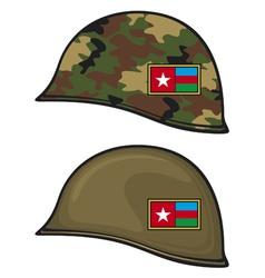 military helmet vector image vector image