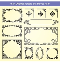 Oriental Asian Borders And Frames vector image vector image
