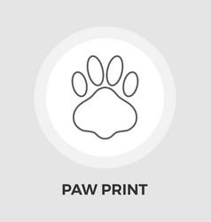Paw flat icon vector