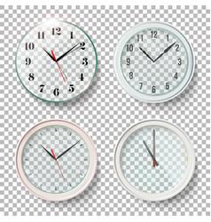 realistic wall clocks set vector image vector image