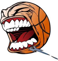 screaming basketball vector image vector image