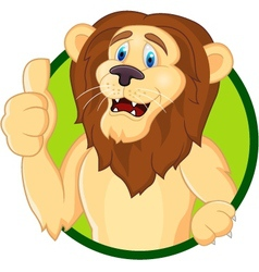 smiling lion cartoon vector image vector image