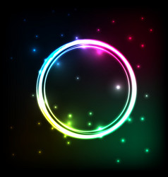 abstract background with colorful circles plasma vector image vector image