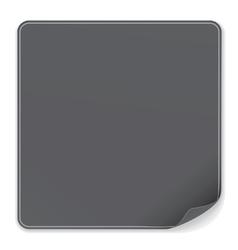 Blank Black Sticker vector image vector image