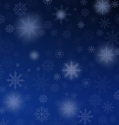 Christmas background blue with snowflakes vector image vector image