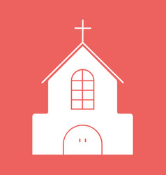 church flat icon with eps10 vector image