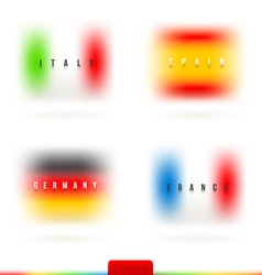 European flags with country name vector image