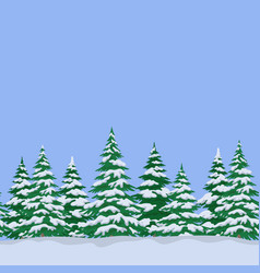 fir trees seamless landscape vector image