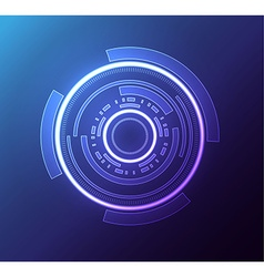 futuristic glowing hud element eps 10 vector image vector image