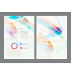 Magazine flyer brochure and cover layout design vector image