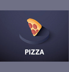 pizza isometric icon isolated on color background vector image