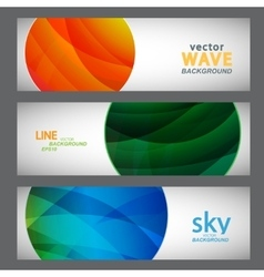 Set 3 abstract pictures of bright color vector image vector image