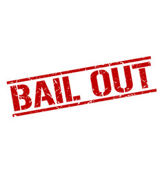 Bail out stamp vector