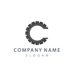 c gear logo vector image