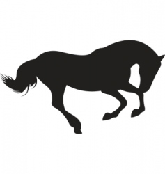 horse silhouette vector vector image