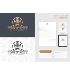 premium logo and corporate template vector image vector image