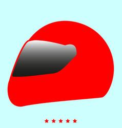 racing helmet it is icon vector image vector image