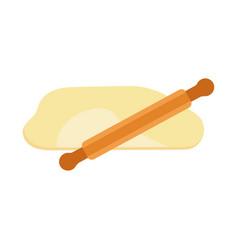 rolling pin dough dough vector image