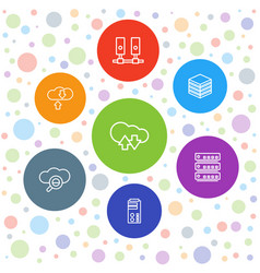 7 database icons vector