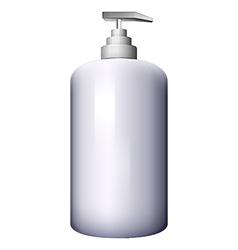 A pump-style lotion bottle vector