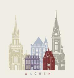 Aachen skyline poster vector