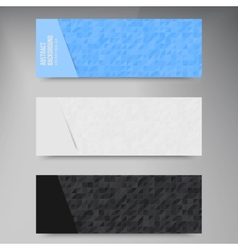 Abstract banners triangle white vector image
