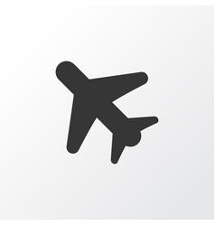 airplane in the sky icon symbol premium quality vector image
