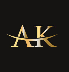 Ak logo design letter logo vector