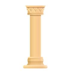 antique column icon cartoon style vector image