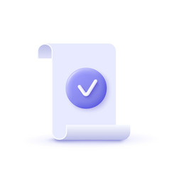 Approval icon document accredited authorized vector