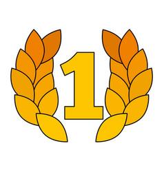 Award number one laurel sport triumph vector
