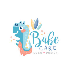 Babe care logo design emblem can be used for kids vector