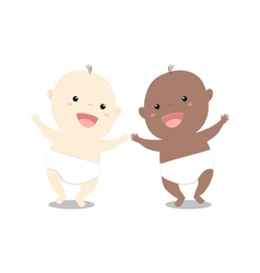 Baby whiteblack vector image